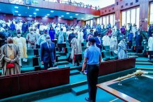 The House of Representatives today, played host to the Deputy Commissioner of Police (DCP) Abba Kyari, as a mark of honour for his exceptional work in the fight against criminality across the country. [PHOTO CREDIT: Bashir Ahmad]