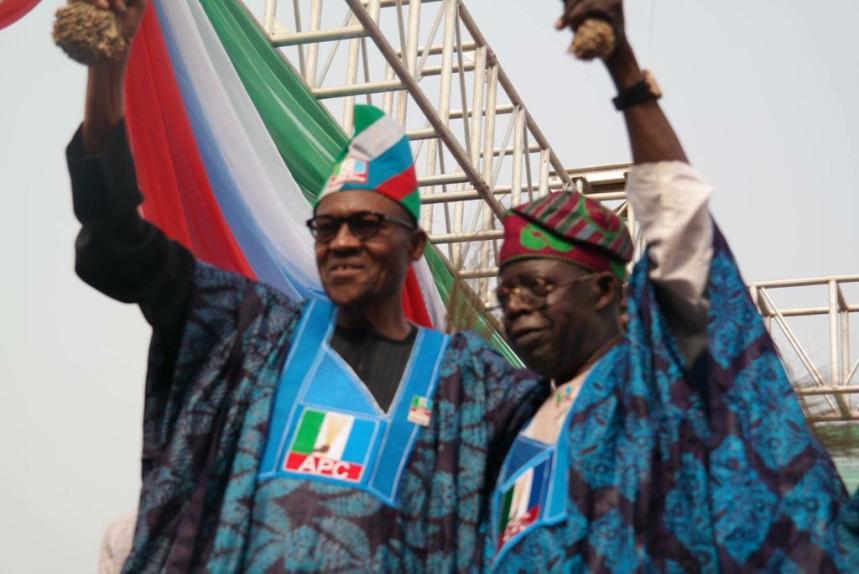 President Muhammadu Buhari and the former Lagos governor and leader of the All Progressives Congress, Bola Tinubu