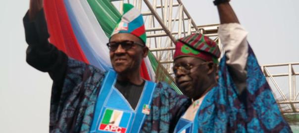 President Muhammadu Buhari and the former Lagos governor and leader of the All Progressives Congress, Bola Tinubu