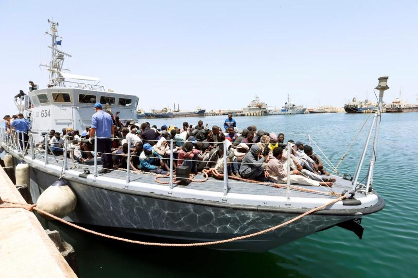 Libyan Coast Guard rescues 184 illegal immigrants off western coast. [PHOTO CREDIT: Reuters]