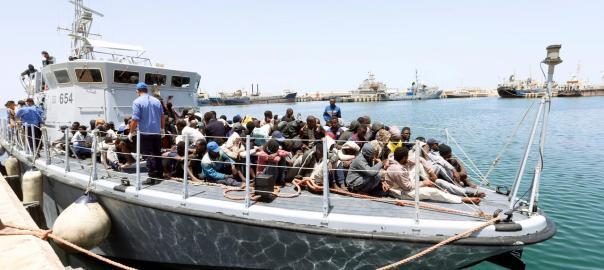 Libyan Coast Guard rescues 184 illegal immigrants off western coast. [PHOTO CREDIT: Reuters]