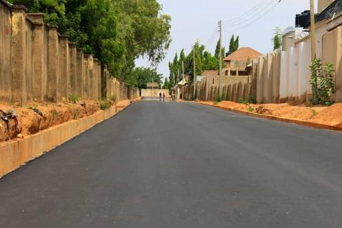 One of the road projects being executed by the Governor Inuwa Yahaya administration