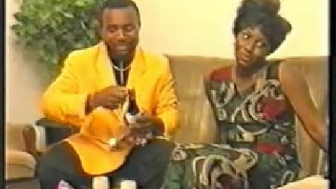 Zack Orji and Ann Njemanze in a scene from the 1996 Nollywood classic, Domitila
