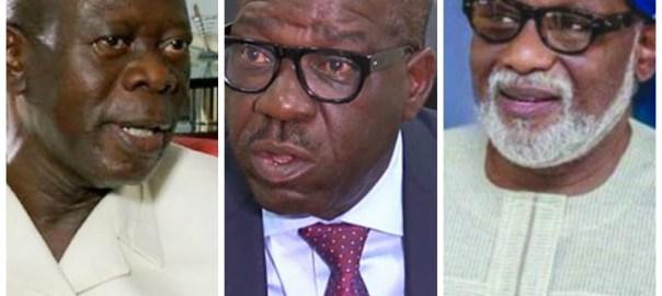 Oshiomhole, Obaseki and Akeredolu
