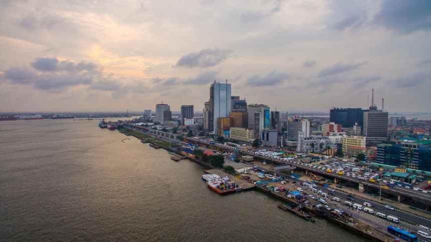 An aerial view of a part of Lagos. shutterstock