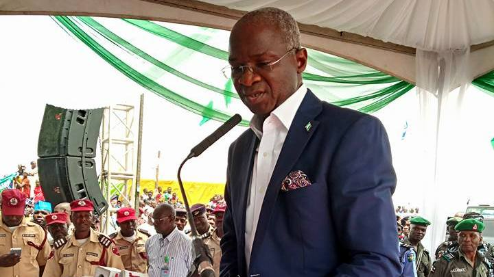 Minister of Works and Housing, Babatunde Fashola. [PHOTO CREDIT: Official Facebook page of Fashola]