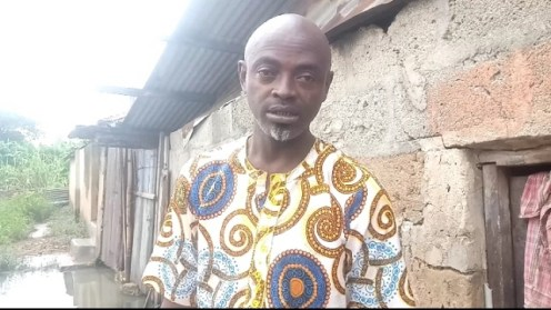 Adekanye Adeniyi, a resident of a flooded area