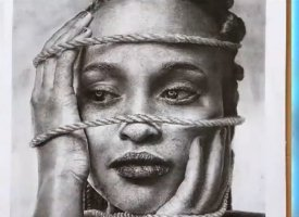 Winning artwork of Nigerian artist, Vincent Kolo