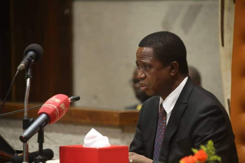 Zambian President, Edgar Chagwa Lungu[PHOTO CREDIT: @EdgarCLungu]