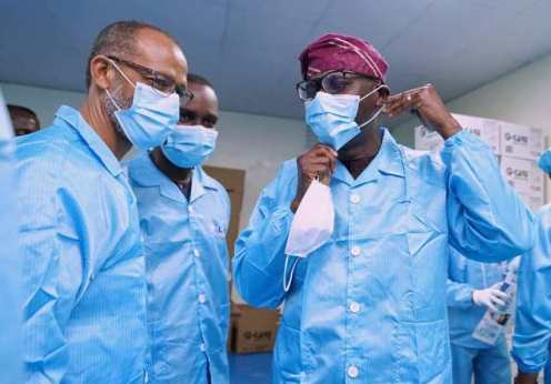 Governor Babajide Sanwo-Olu, on Thursday, opened the O-Care Medical Face Mask factory in Odofin Park Estate, Amuwo Odofin Local Government Area of the StateGovernor Babajide Sanwo-Olu, on Thursday, opened the O-Care Medical Face Mask factory in Odofin Park Estate, Amuwo Odofin Local Government Area of the State