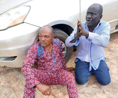 Two men caught at the venue of the People's Democratic Party (PDP) primary election with ballot papers