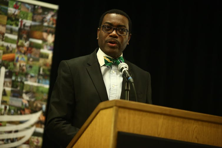 Akinwumi Adesina leads the African Development Bank that has the USA as its second largest shareholder.