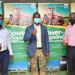 L-R: Product Development Manager, Mr. Olusegun Emmanuel; Executive Chairman, Origin Group, Prince Joseph Samuel and Executive Vice Chairman, Origin Group, Mr. Kunle Ball at the unveiling of the tractor hailing mobile platform, TRACTORONTHEGO (TOG) by Origin Group in Lagos.