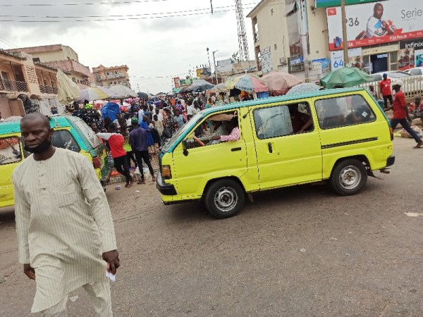 Residents flouting the NCDC rules on curbing the spread of COVID-19 in Kaduna