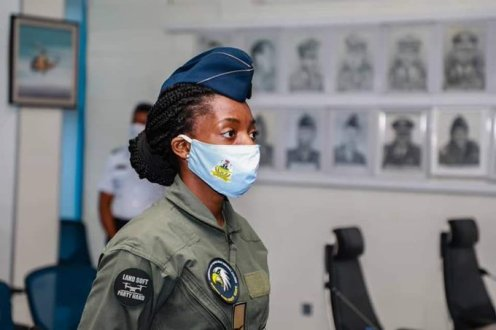 Nigeria's second female helicopter pilot, Flying Officer Chinelo Nwokoye. (Photo Credit: Tolu Ogunlesi)