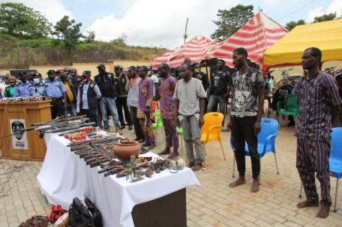 Seven arrested for bank robbery in Ekiti (PHOTO CREDIT: @PoliceNG)