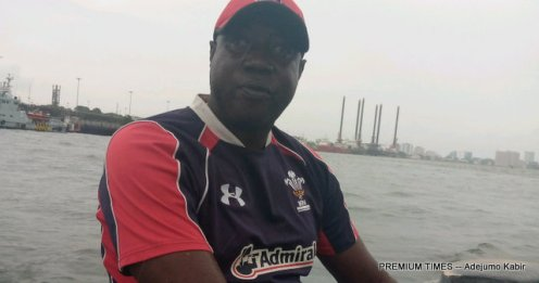 Toyin Williams who took our correspondent to Tarkwa Bay