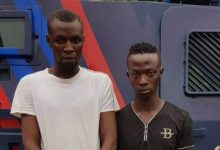 Two suspects arrested for traffic robbery
