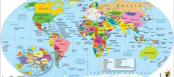 World political map [PHOTO CREDIT: World Map]