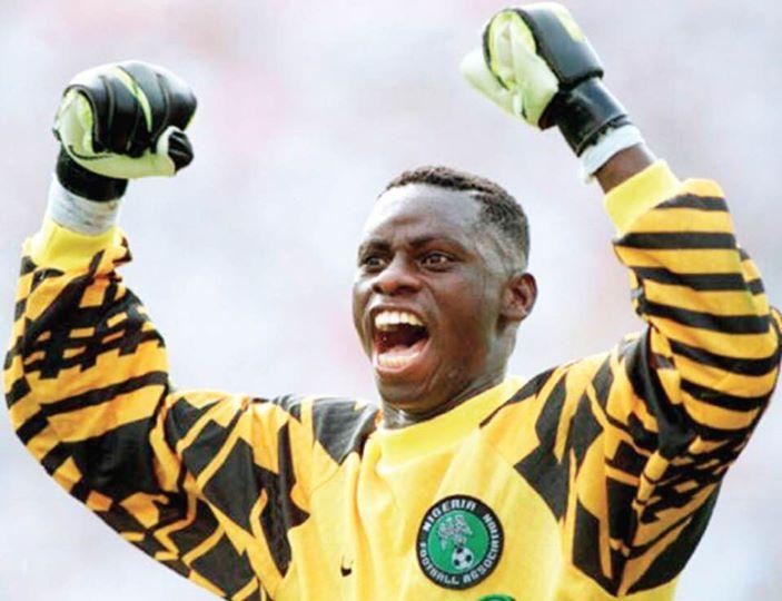 Dosu Joseph in action for Nigeria