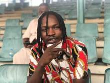 Naira Marley pictured at Eagle Square Abuja during a Mobile court session [PHOTO: TW @SaharaReporters]