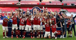 Arsenal's 14th FA Cup trophy