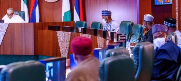 President Muhammadu Buhari this afternoon, met with governors of the Northeastern states on security and development at the State House. VP, SGF, CoS, NSA, HMoD, Service Chiefs and other heads of security agencies were in attendance. [PHOTO CREDIT: @BashirAhmaad]