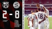 Bayern Munich wins FC Barcelona [PHOTO CREDIT: @FCBayernEN]