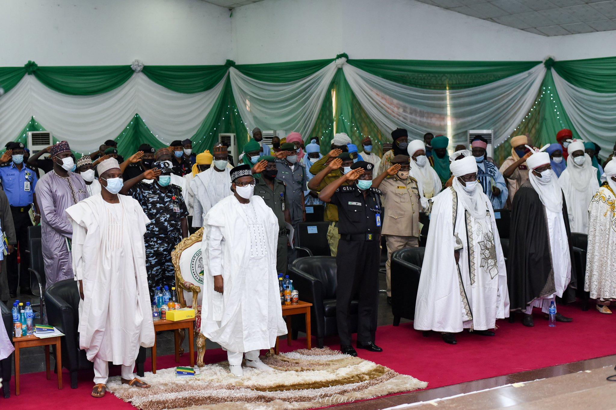 Bala Mohammed inaugurated a 21-member advisory committee on community policing [PHOTO CREDIT: @SenBalaMohammed]