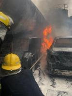 Fire incident at Ademola Adetokunbo Cresent