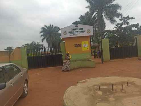 Makun high school entrance PHOTO CREDITS: Premium Times