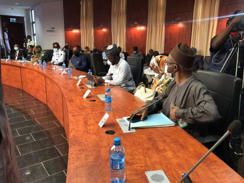 Members of the Kaduna state executive council at Sir Kashim Ibrahim House.