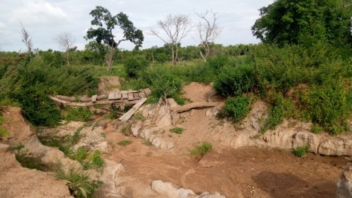 One of the deplorable roads in Olowu village