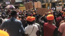 #RevolutionNow: Nigerian protest bad governance. [PHOTO CREDIT: Omoyele Sowore]
