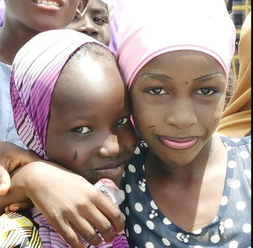 Little girls in an IDP camp