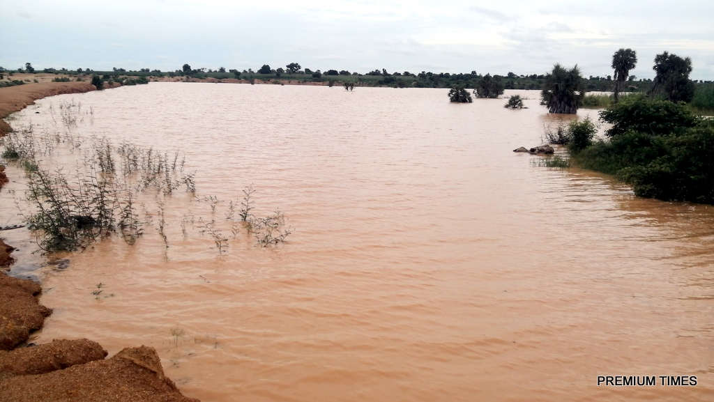 Edge of Raba dam vanished by water erosion