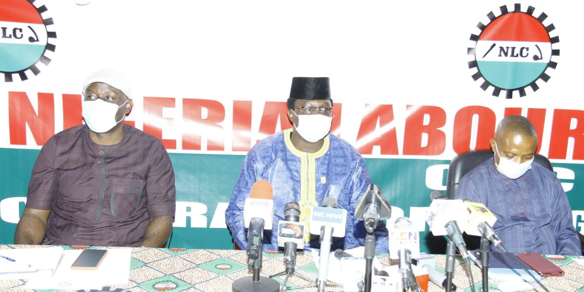 Nigeria Labour Congress (NLC) leaders [PHOTO CREDIT: @NLCHeadquarters]