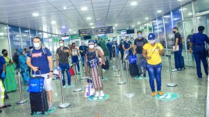 Murtala Muhammed International Airport, Lagos comes alive as flight operations resume. [PHOTO CREDIT: @FAAN_Official]