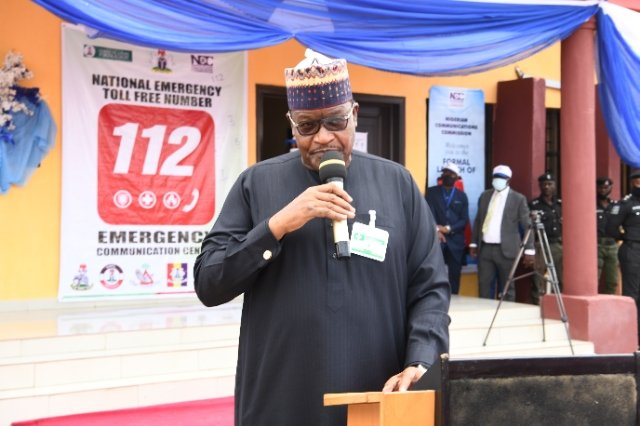 Umar Danbatta at the Official commissioning of the Nigerian Communications Commission (NCC)'s Emergency  Communications Centre (ECC) in Imo State. [PHOTO CREDIT: @NgComCommission]