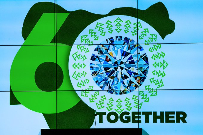 President Muhammadu Buhari unveiled the Nigeria At 60 logo [PHOTO CREDIT: @TolaniAlli]