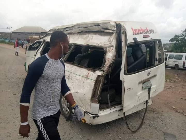 Pictures from the scene of the Anambra accident