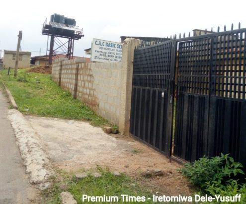 First gate at the Christ Apostolic Church, Oke Apon