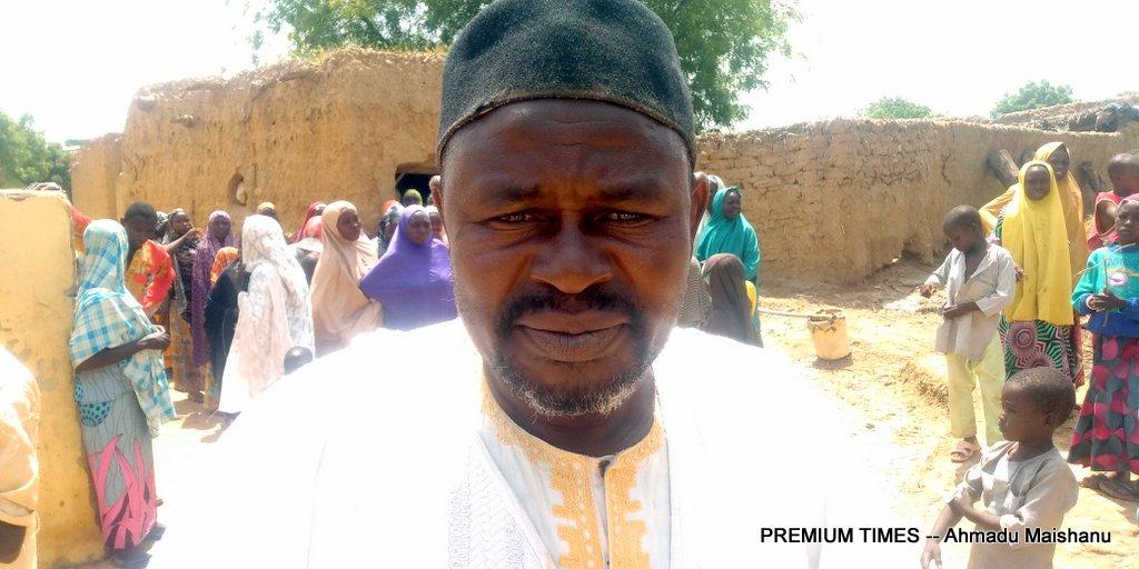 The village head Alhassan Haruna