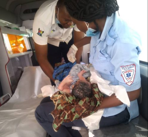 LASEMA delivers a baby boy under Ajah bridge.
