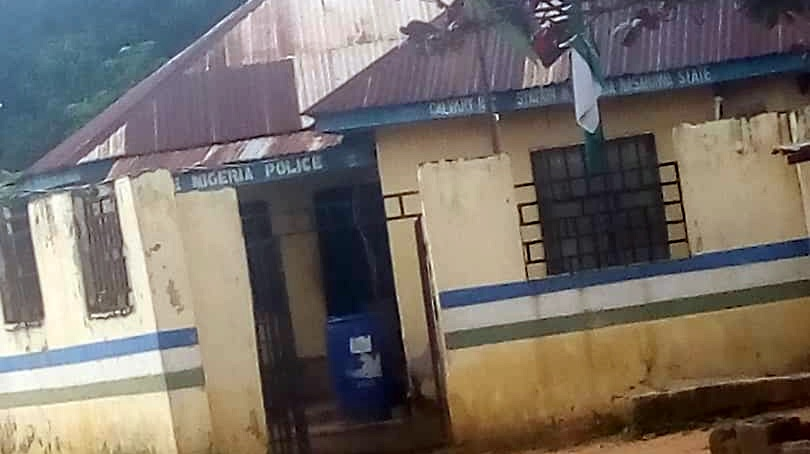 Police outstation where Bilikisu was said to have been tortured (Credit: James Aparshe)