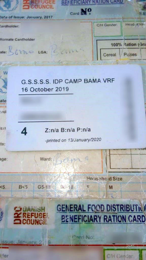 ID card issued to IDPs.