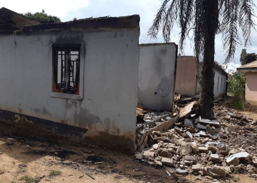 Jeremiah Gandu's razed home at Kurmin Masara, Zangon Kataf LGA. [Credit: Taiwo Hassan Adebayo/Premium Times]