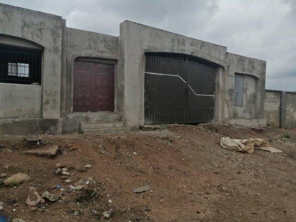 Main gate of abandoned stadium project