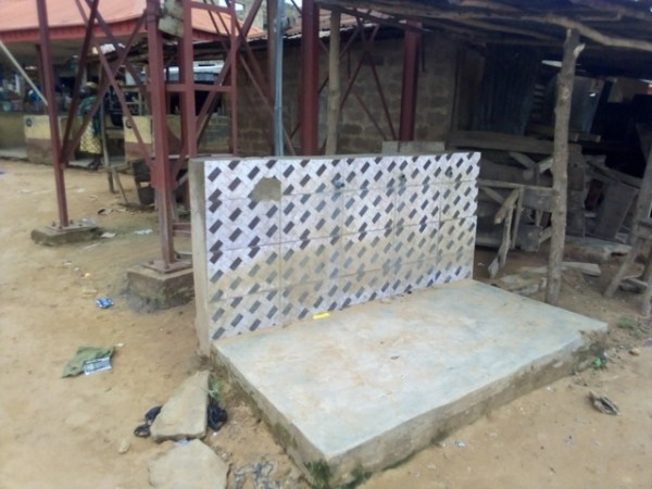 tap of non-functioning borehole project at Lanlate