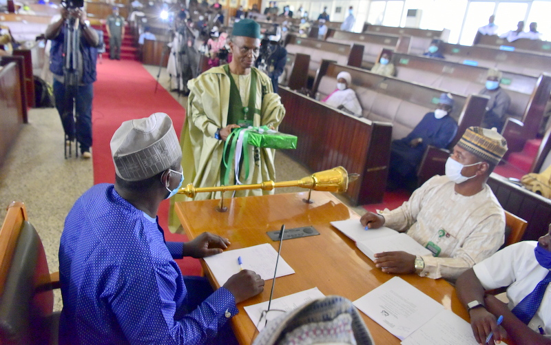Governor El-Rufai presenting 2021 budget to Kaduna House of Assembly